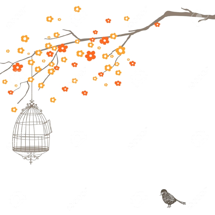 11597441-hand-drawn-nature-design-with-tree-birdcage-and-bird-stock-vector